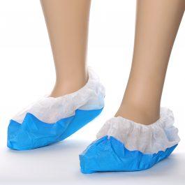 copriscarpe bianco blu